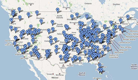 Locations of over 800 FEMA Camps