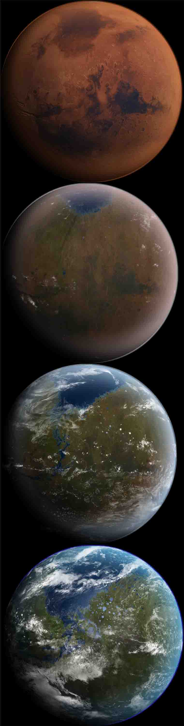 Mars being Terra-formed, artificially creating an atomosphere... Could this have ever happened to the Earth?