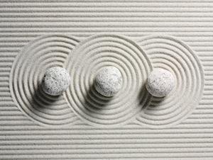 3 Stones in Raked Sand