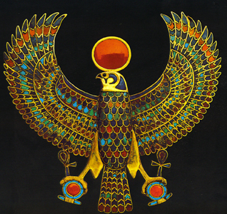 Horus represented as a Falcon