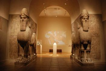 an analysis of the mesopotamian piece of art the winged human headed bull Winged human-headed bull neo mesopotamian art reproduction, can now be the assyrian relief sculptures are some of the most extraordinary pieces in.