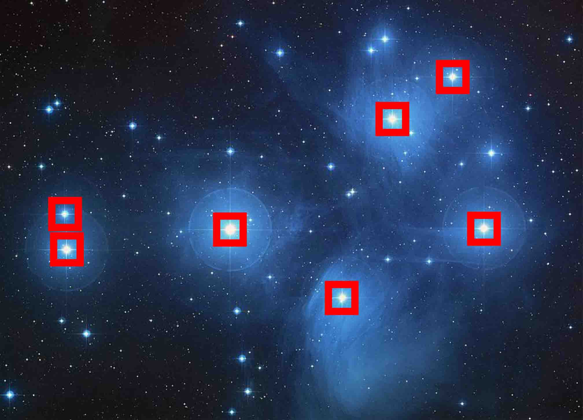 NASA's photo of Pleiades