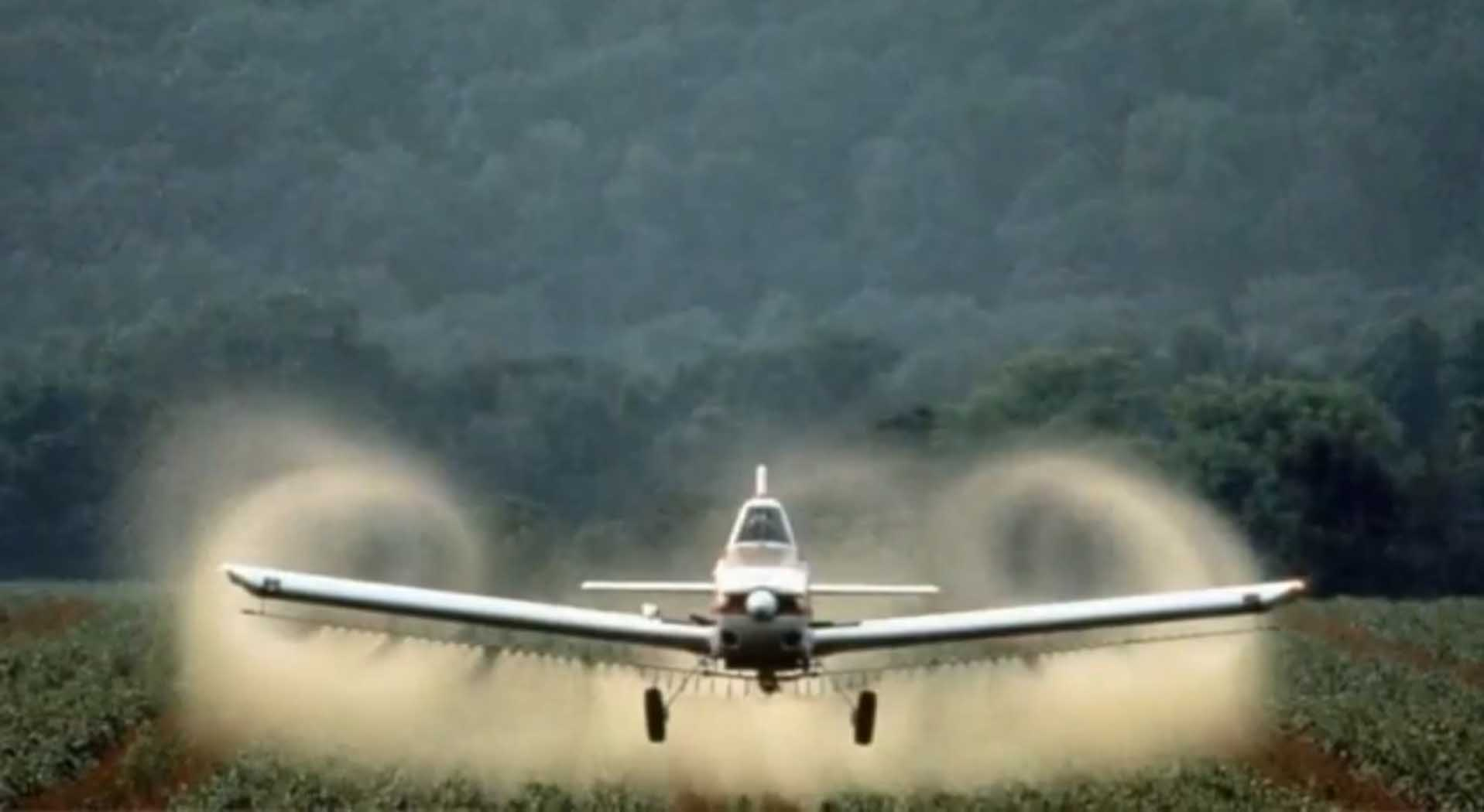 Crops Being Sprayed