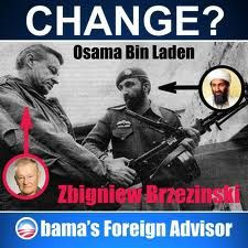 Osama Bin Laden (Tim Osman) with Zbigniew Brzezinski