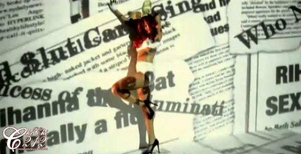*Princess of the Illuminati* flashed over Rihanna in S&M music video